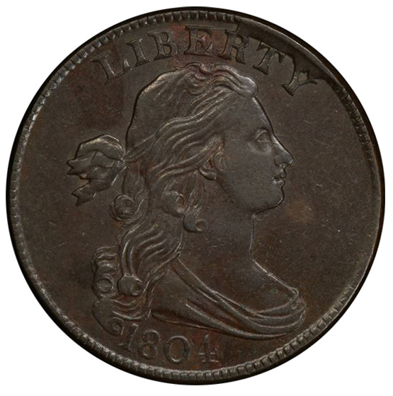 Picture of 1804 DRAPED BUST 1C AU53 Brown