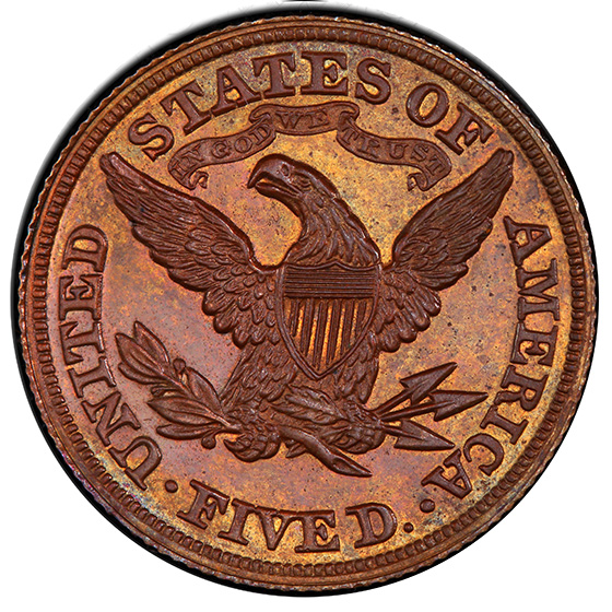 Picture of 1880 $5 J-1663 PR65 Brown