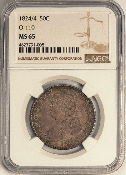 Picture of 1824/4 CAPPED BUST 50C MS65