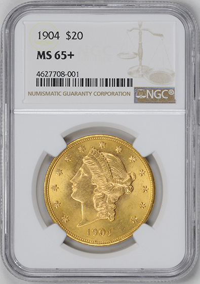 Picture of 1904 LIBERTY HEAD $20 MS65+