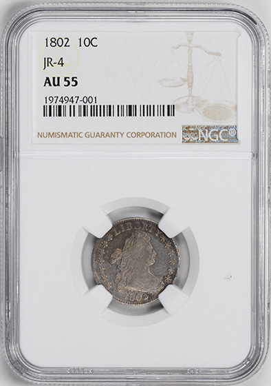 Picture of 1802 DRAPED BUST 10C AU55