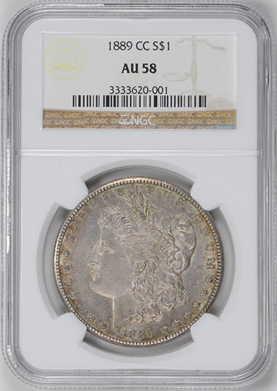 Picture of 1889-CC MORGAN S$1 AU58