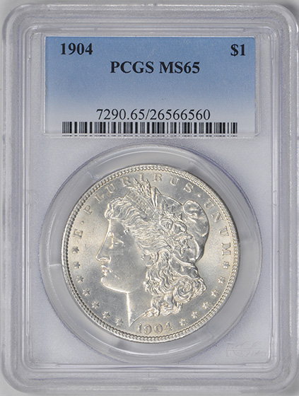 Picture of 1904 MORGAN S$1 MS65