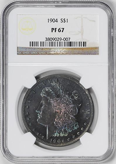 Picture of 1904 MORGAN S$1 PR67