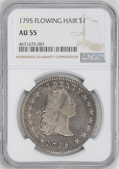 Picture of 1795 FLOWING HAIR $1, 3 LEAVES AU55