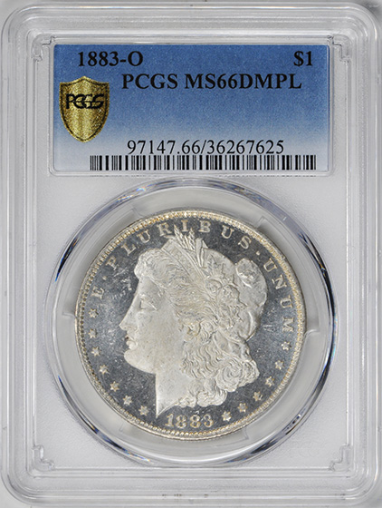Picture of 1883-O MORGAN S$1 MS66 DMPL
