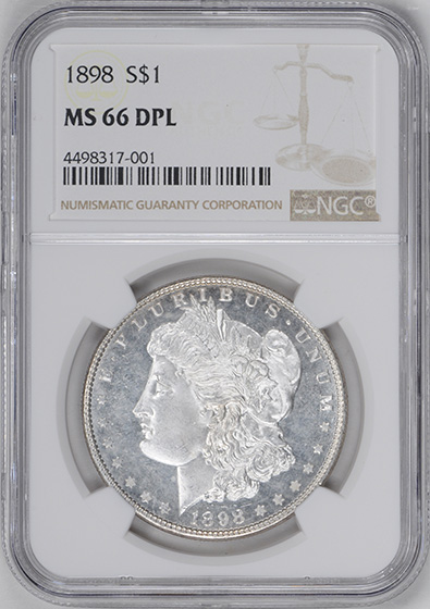 Picture of 1898 MORGAN S$1 MS66 DMPL