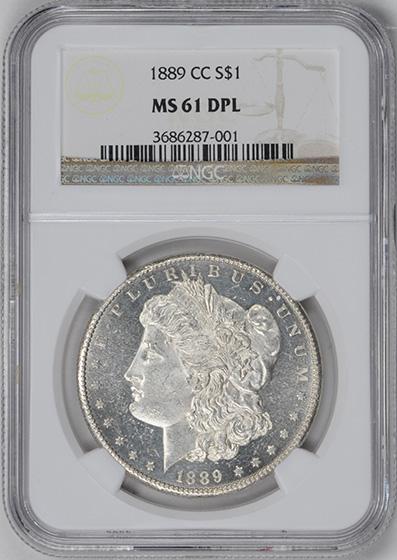 Picture of 1889-CC MORGAN S$1 MS61 DMPL