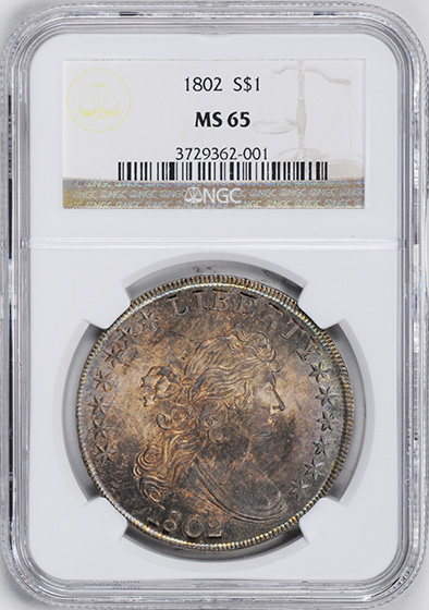Picture of 1802 DRAPED BUST $1 MS65