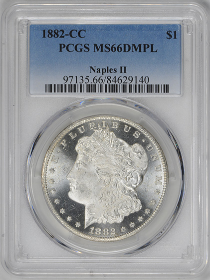 Picture of 1882-CC MORGAN S$1 MS66 DMPL