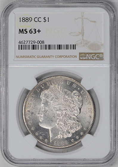 Picture of 1889-CC MORGAN S$1 MS63+