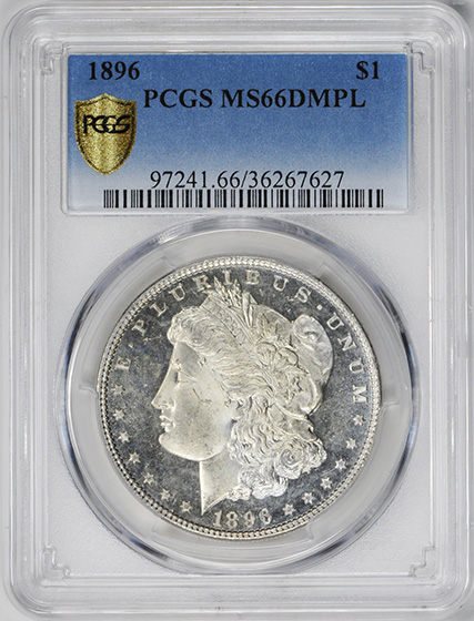 Picture of 1896 MORGAN S$1 MS66 DMPL