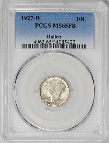 Picture of 1927-D MERCURY 10C MS65 Full Bands