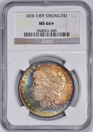 Image of 1878 7/8TF MORGAN S$1, STRONG