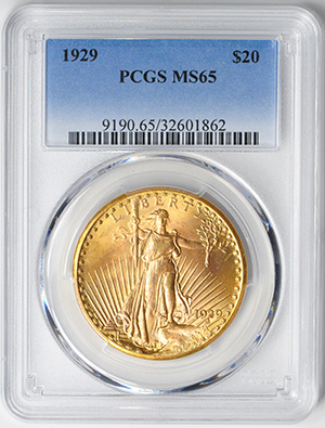 Image of 1929 ST. GAUDENS $20, MOTTO