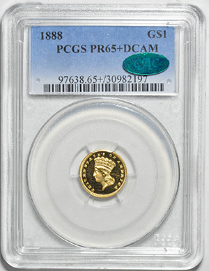 Image of 1888 GOLD G$1, TYPE 3