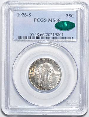 Image of 1926-S STANDING LIBERTY 25C, TYPE 2