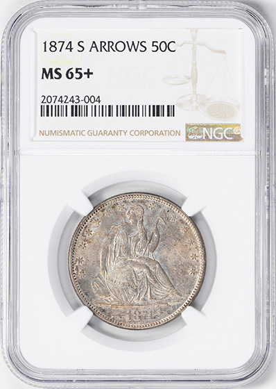 Image of 1874-S SEATED LIBERTY 50C
