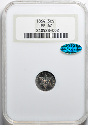 Image of 1864 SILVER 3CS, TYPE 3