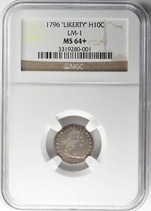 Image of 1796 DRAPED BUST H10C, LIKERTY