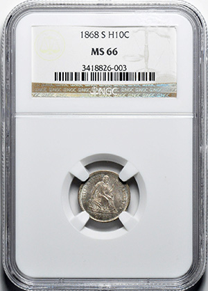 Image of 1868-S LIBERTY SEATED H10C, LEGEND