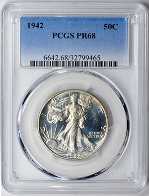 Image of 1942 WALKING LIBERTY 50C
