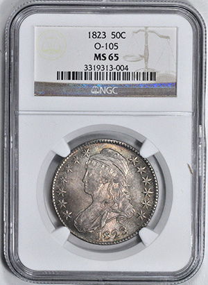 Image of 1823 CAPPED BUST 50C, LETTERED EDGE
