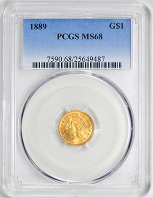 Image of 1889 GOLD G$1, TYPE 3