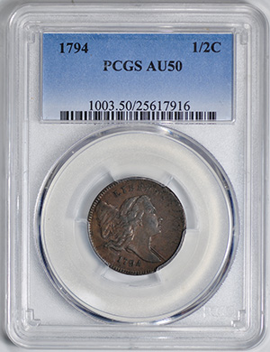 Image of 1794 LIBERTY CAP RT LG HD 1/2 C