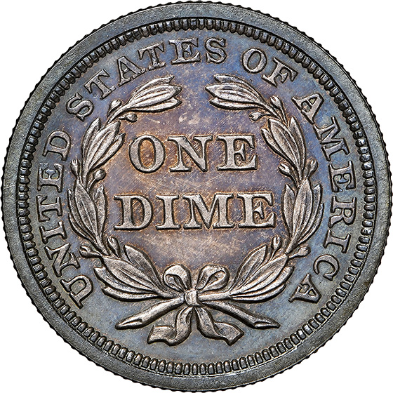 Picture of 1856 LIBERTY SEATED 10C, SMALL DATE PR66 Cameo