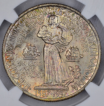 Picture of ROANOKE SILVER 50C MS68