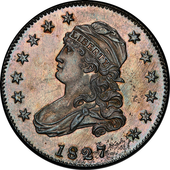 Picture of 1827 CAPPED BUST 25C, RESTRIKE PR66