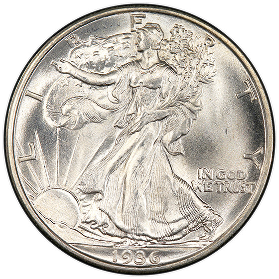 Picture of 1936-D WALKING LIBERTY 50C MS67