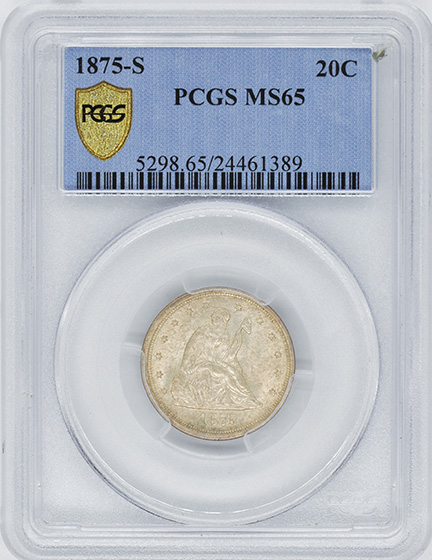 Picture of 1875-S 20C MS65