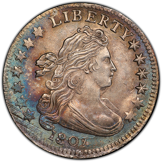 Picture of 1807 DRAPED BUST 10C MS65