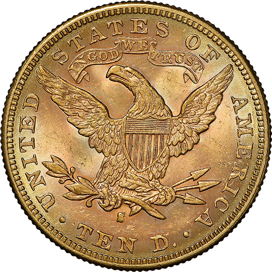Picture of 1896-S LIBERTY HEAD $10 MS63