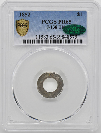 Picture of 1852 G$1 J-138 THIN PR65
