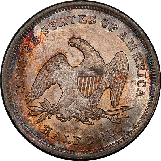 Picture of 1839 LIBERTY SEATED 50C, NO DRAPERY MS64