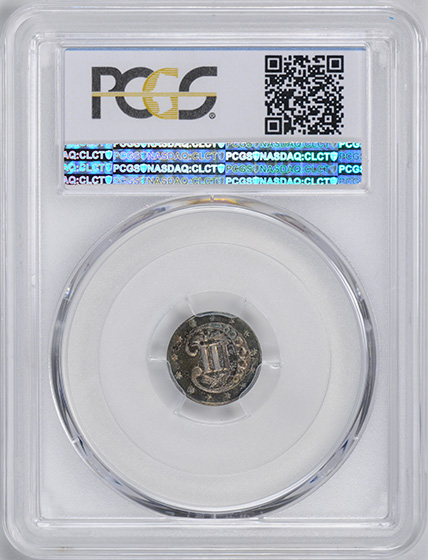 Picture of 1858 SILVER 3CS PR66