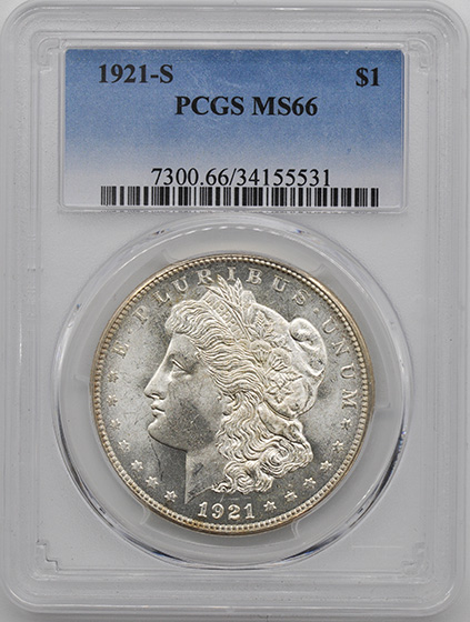 Picture of 1921-S MORGAN S$1 MS66