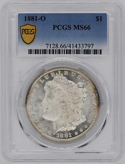 Picture of 1881-O MORGAN S$1 MS66