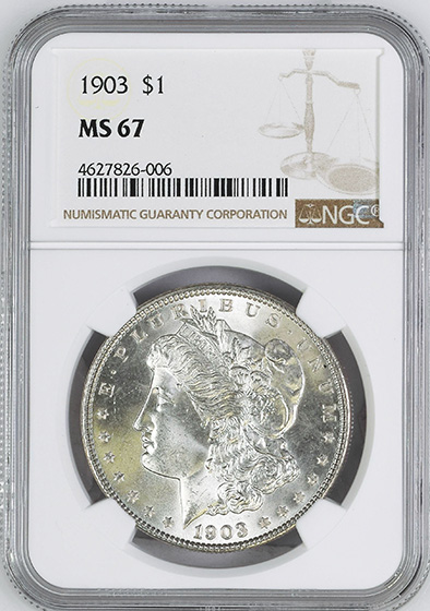 Picture of 1903 MORGAN S$1 MS67
