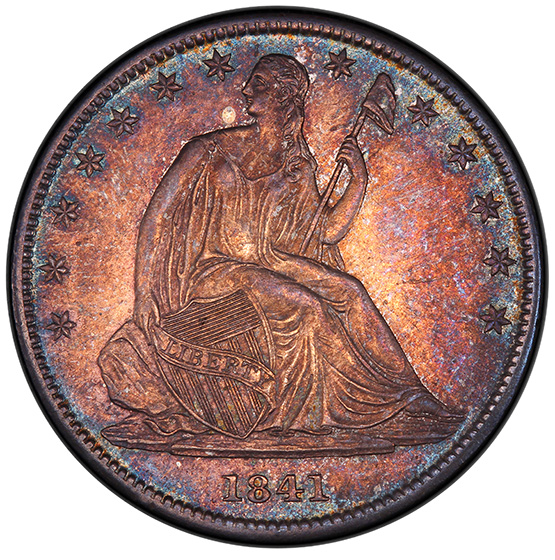 Picture of 1841-O LIBERTY SEATED 50C, NO MOTTO MS63
