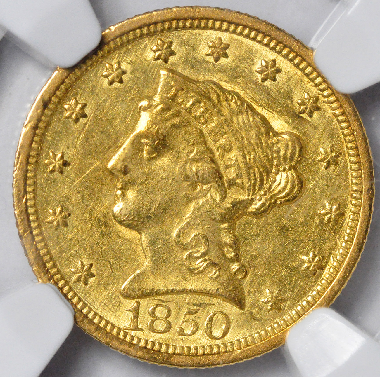 Picture Of 1850 C Liberty 2 1 Ms61