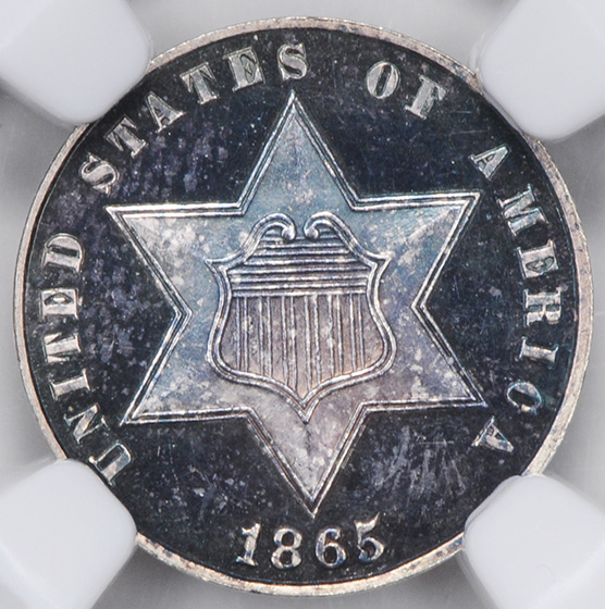 Picture of 1865 SILVER 3CS, TYPE 3 PR67 Cameo