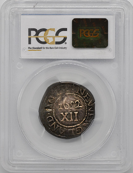 Picture of 1652 OAK TREE SHILLING, ANDO VARIETY AU50