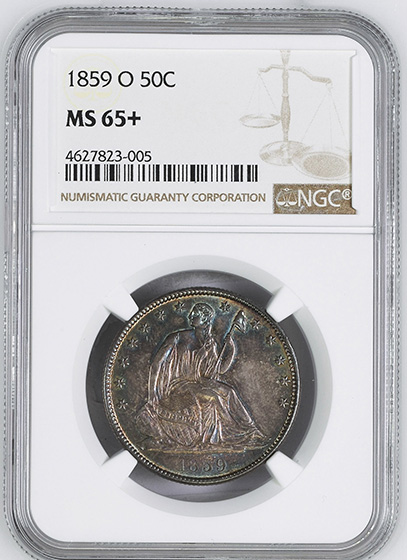 Picture of 1859-O LIBERTY SEATED 50C MS65+