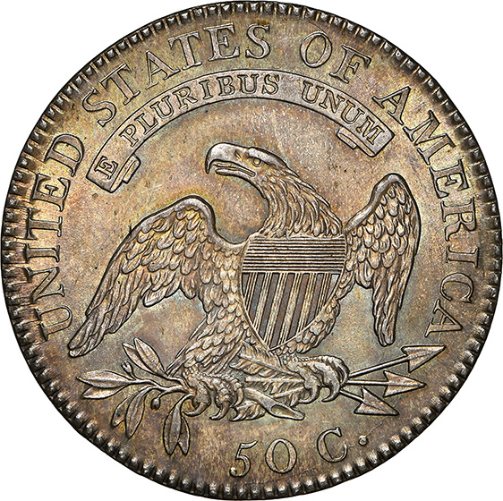 Picture of 1818 CAPPED BUST 50C, LETTERED EDGE MS65