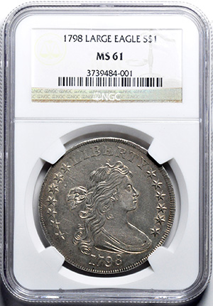 Picture of 1798 BUST $1, LARGE EAGLE MS61