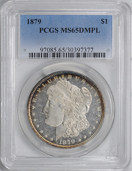 Picture of 1879 MORGAN S$1 MS65 DMPL